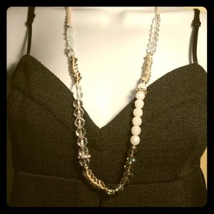 Cookie Lee Braided/Beaded Drop Necklace
